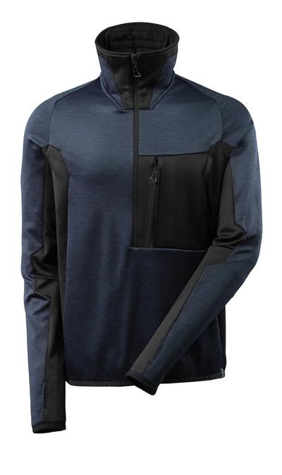 MASCOT® ADVANCED - dark navy/black - Fleece Jumper with half zip, modern fit
