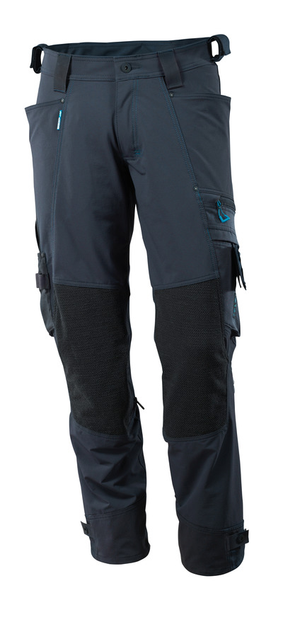 MASCOT® ADVANCED - dark navy - Trousers with Dyneema® kneepad pockets, four-way stretch, lightweight