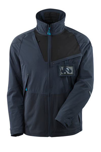 MASCOT® ADVANCED - dark navy/black - Jacket, four-way stretch, lightweight.
