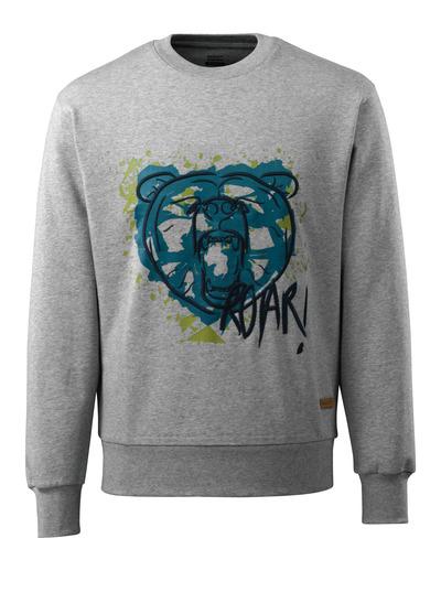 MASCOT® ADVANCED - grey-flecked - Sweatshirt with bear head, modern fit