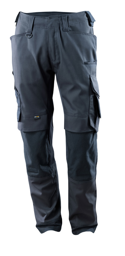 MASCOT® Adra - dark navy - Trousers with CORDURA® kneepad pockets, stretch inserts, high durability