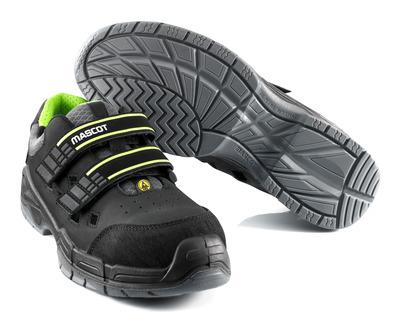MASCOT® Alpamayo - black - Safety Sandal S1P with hook & loop band fastening