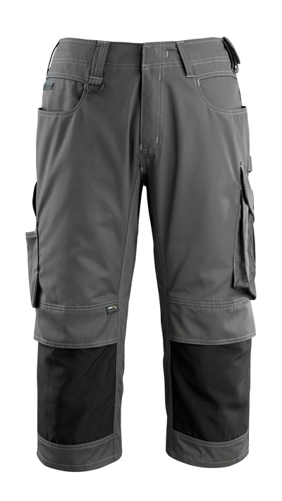 MASCOT® Altona - dark anthracite/black - ¾ Length Trousers
