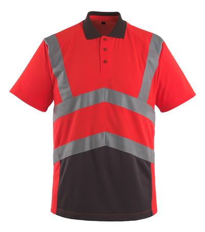MASCOT® Anadia - hi-vis red/dark anthracite - Polo Shirt, modern fit, class 2