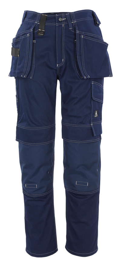 MASCOT® Atlanta - navy - Trousers with CORDURA® kneepad pockets and holster pockets, cotton