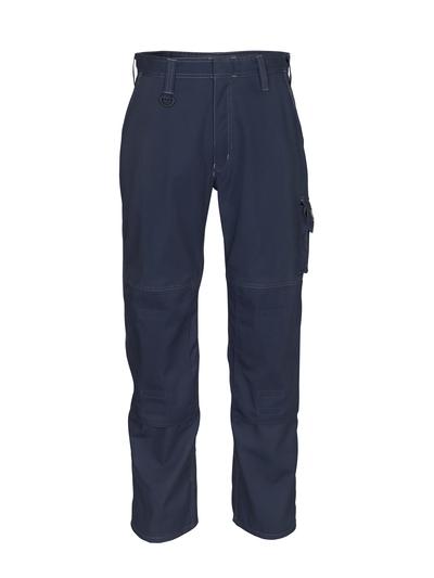 MASCOT® Biloxi - dark navy - Trousers with kneepad pockets, cotton