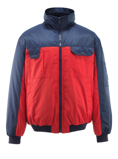 MASCOT® Bolzano - red/navy - Pilot Jacket with pile lining, water-repellent Bearnylon®