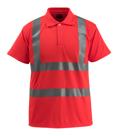 MASCOT® Bowen - hi-vis red - Polo Shirt, classic fit, class 2