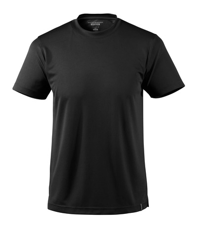 MASCOT® CROSSOVER - black - T-shirt, moisture wicking CoolDry, modern fit