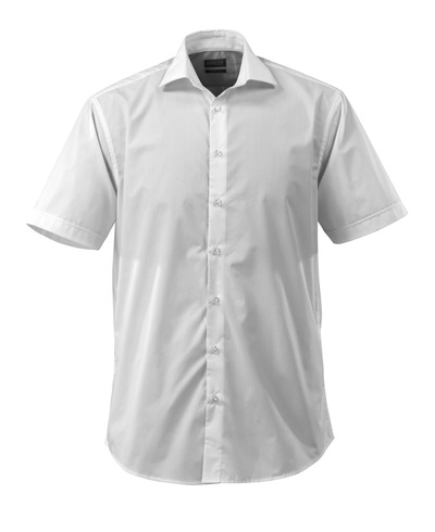 MASCOT® CROSSOVER - white - Shirt poplin, classic fit, short-sleeved.