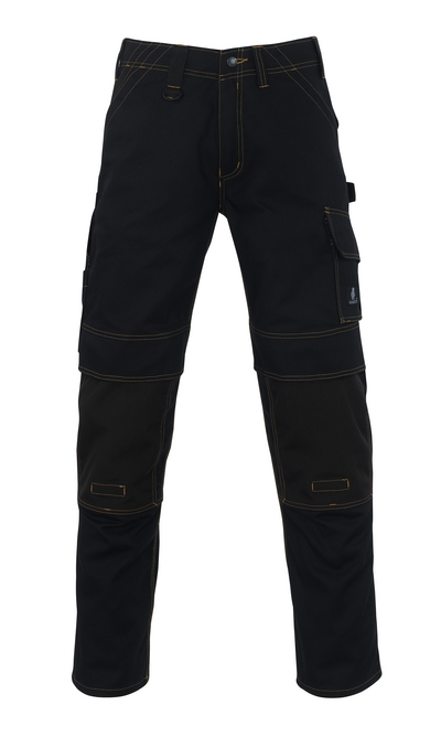 MASCOT® Calvos - black - Trousers with CORDURA® kneepad pockets, high durability