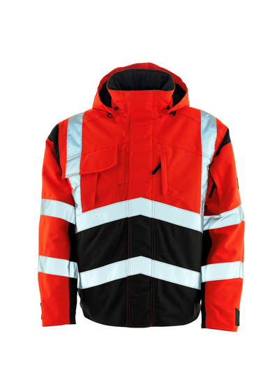 MASCOT® Camina - hi-vis red/dark anthracite - Pilot Jacket with quilted lining, waterproof MASCOTEX®, class 2