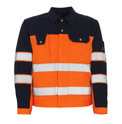 MASCOT® Como - hi-vis orange/navy* - Jacket, high durability, class 2/2