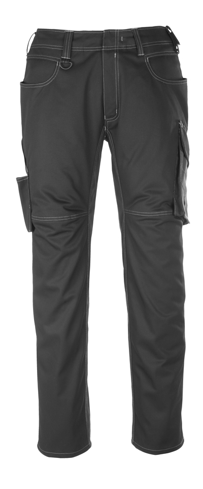 MASCOT® Dortmund - black/dark anthracite - Trousers