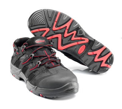 MASCOT® El Misti - black/red* - Safety Sandal S1P with laces
