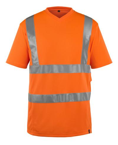 MASCOT® Espinosa - hi-vis orange - T-shirt, V-neck, modern fit, class 2