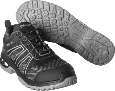 MASCOT® FOOTWEAR ENERGY - black/anthracite - Safety shoe S1P with laces
