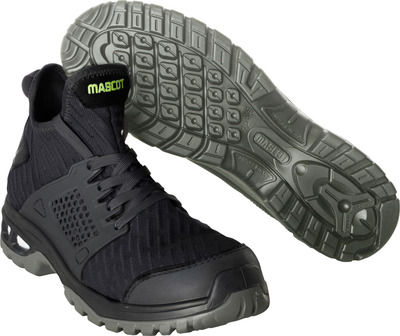 MASCOT® FOOTWEAR ENERGY - black - Safety boot (mid cut) S1P with laces
