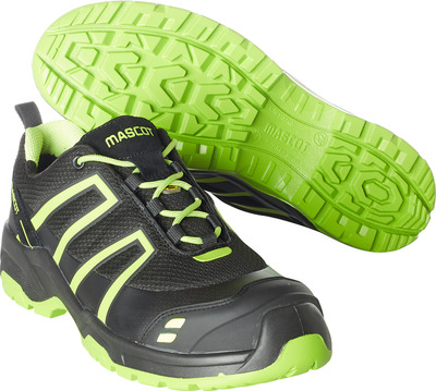 MASCOT® FOOTWEAR FLEX - black/hi-vis yellow - Safety shoe S1P with laces, mesh and print