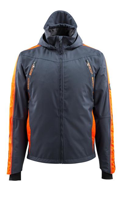MASCOT® Gandia - dark navy/hi-vis orange - Outer Shell Jacket with hi-vis contrast, waterproof