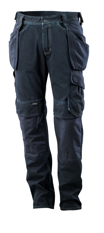 MASCOT® HARDWEAR - dark blue denim - Jeans with holster pockets, extra durable.