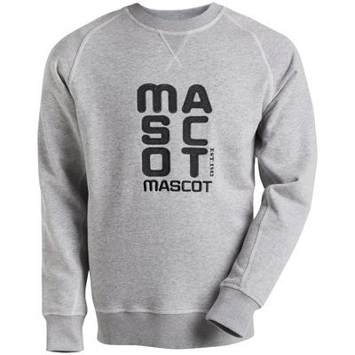 MASCOT® HARDWEAR - grey-flecked - Sweatshirt with embroidered MASCOT logo, modern fit