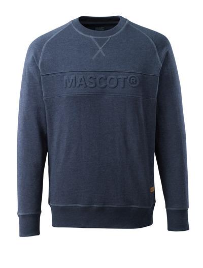 MASCOT® HARDWEAR - washed dark blue denim* - Sweatshirt with embossed MASCOT logo, modern fit