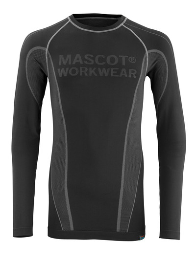 MASCOT® Hamar - black - Functional Under Shirt, moisture wicking, insulating