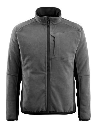 MASCOT® Hannover - dark anthracite/black - Fleece Jacket, extended back