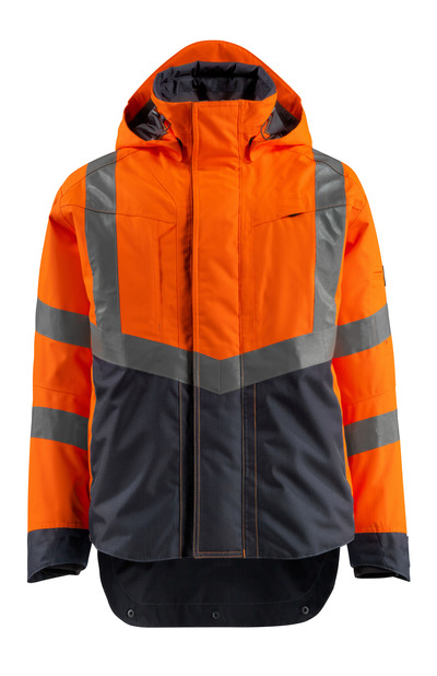 MASCOT® Harlow - hi-vis orange/dark navy - Outer Shell Jacket, waterproof, class 3