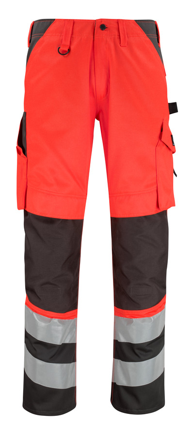 MASCOT® Horta - hi-vis red/dark anthracite* - Trousers with kneepad pockets