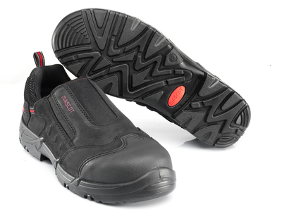 MASCOT® Katesh - black/red* - Safety Shoe S1P with elastic closure