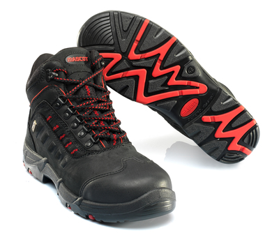MASCOT® Kenya - black/red - Safety Boot S3 with laces