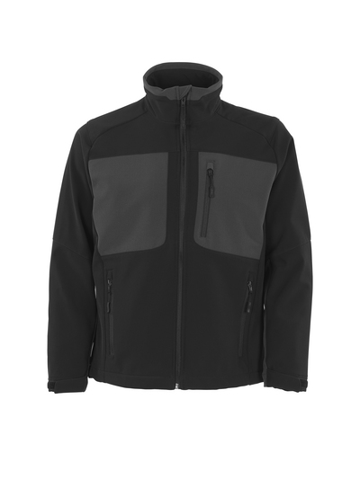 MASCOT® Lagos - black/dark anthracite - Softshell Jacket with fleece on inner side, water-repellent