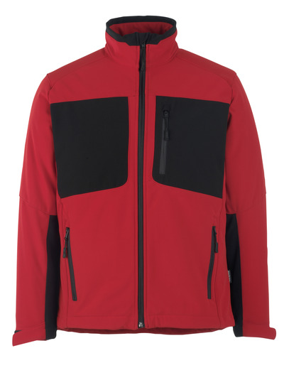 MASCOT® Lagos - traffic red/black* - Softshell Jacket with fleece on inner side, water-repellent