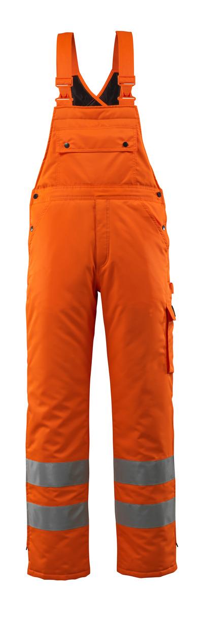 MASCOT® Lech - hi-vis orange - Winter Bib & Brace with quilted lining, waterproof MASCOTEX®, class 2
