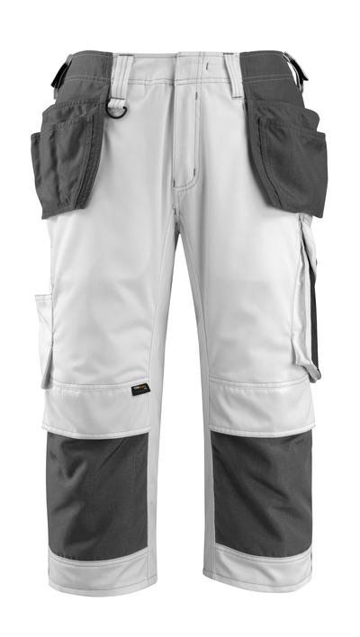 MASCOT® Lindau - white/dark anthracite - Craftsmen's ¾ Trousers