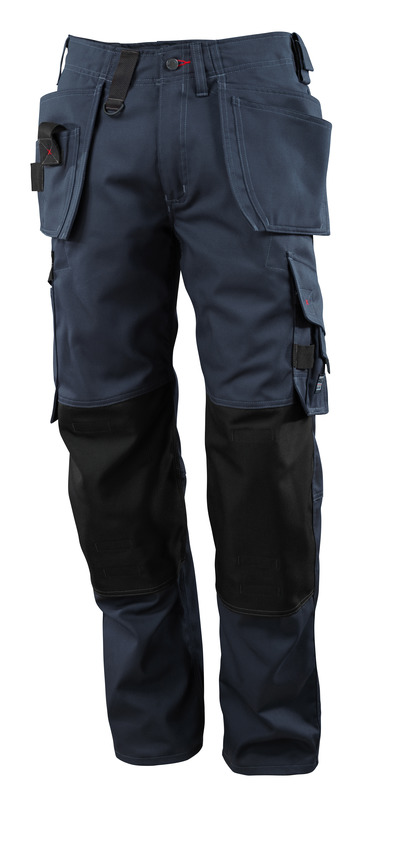 MASCOT® Lindos - dark navy - Trousers with CORDURA® kneepad pockets and with holster pockets, lightweight