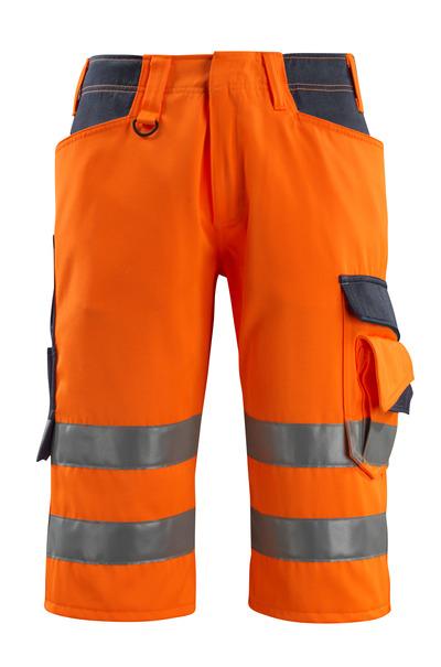 MASCOT® Luton - hi-vis orange/dark navy - ¾ Length Trousers, class 1