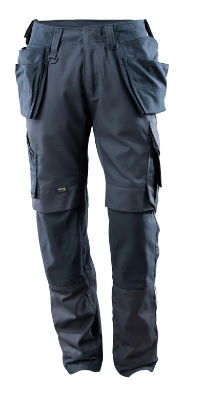 MASCOT® Madrid - dark navy - Trousers with CORDURA® kneepad pockets and holster pockets, stretch inserts, high durability