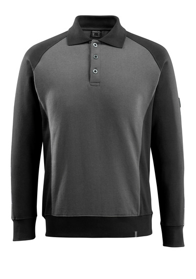 MASCOT® Magdeburg - dark anthracite/black - Polo Sweatshirt