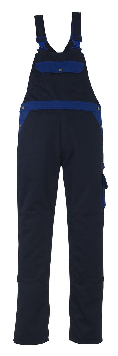 MASCOT® Milano - navy/royal - Bib & Brace with kneepad pockets, high durability