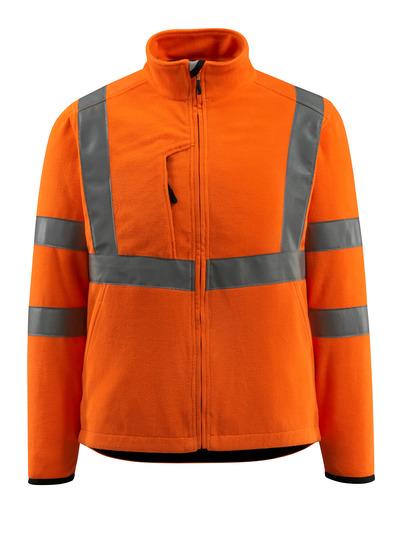 MASCOT® Mildura - hi-vis orange - Fleece Jacket with high collar, class 3