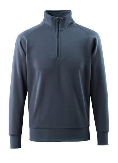 MASCOT® Nantes - dark navy - Sweatshirt with half zip, modern fit