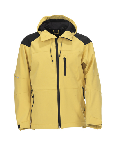 MASCOT® Nisa - traffic yellow/black* - Softshell Jacket with hood, water-repellent
