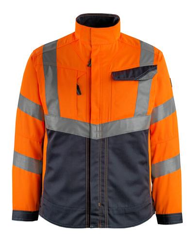 MASCOT® Oxford - hi-vis orange/dark navy - Jacket, high durability, class 2