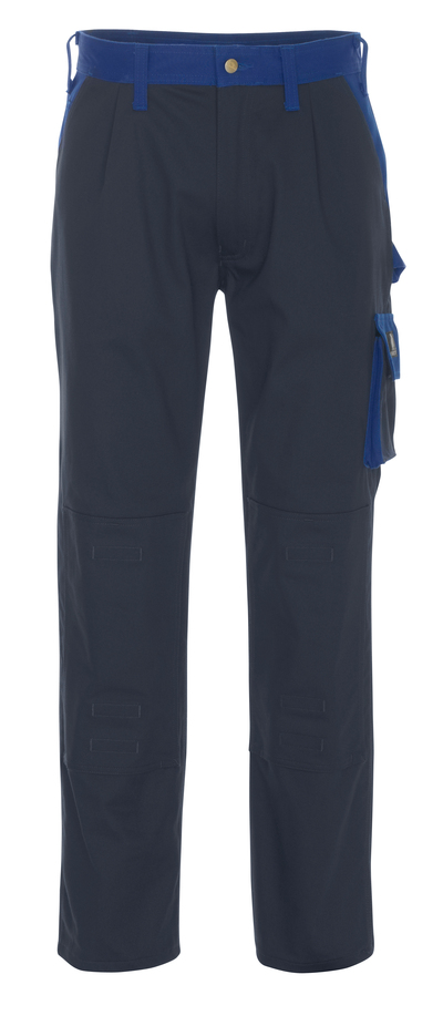 MASCOT® Palermo - navy/royal - Trousers with kneepad pockets, cotton