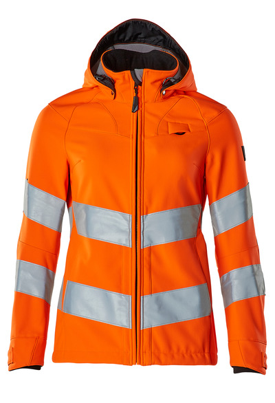 MASCOT® SAFE SUPREME - hi-vis orange - Softshell Jacket, ladies' fit, water-repellent, class 3