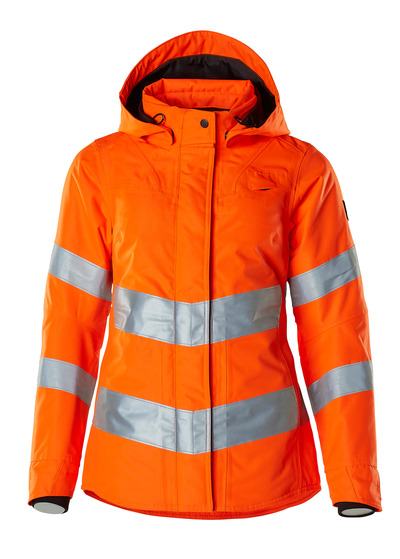 MASCOT® SAFE SUPREME - hi-vis orange - Winter Jacket, ladies' fit, waterproof, class 3