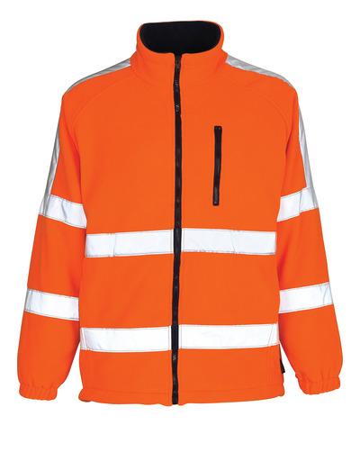 MASCOT® Salzburg - hi-vis orange - Fleece Jacket with windproof lining, class 3